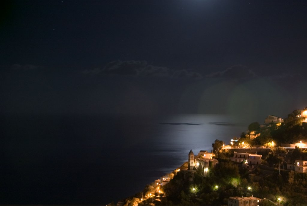 Magical moon over the Med.