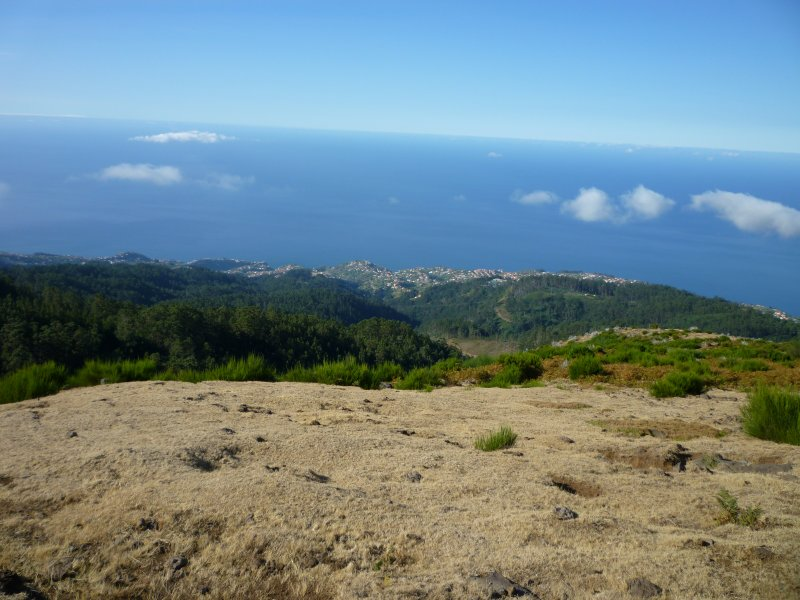 View down to the sea from the high plateau
