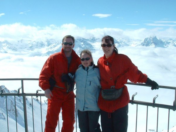 Mark, Lauren and Mandy on top of the world!